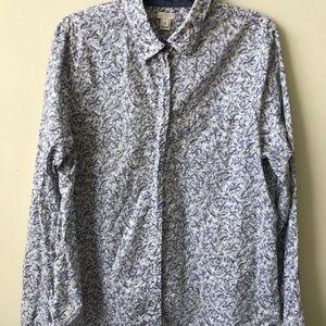 J. Crew Bird Print Button down Shirt